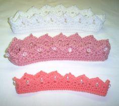 Crocheted Princess Crown Headbands