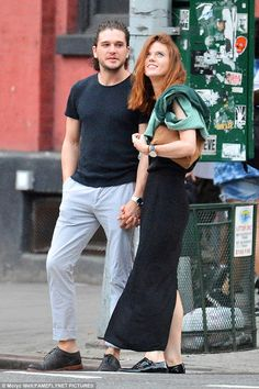 Eastern lights: It wasn't the Northern Lights of Iceland but Kit Harington seemed absolutely smitten with former Game Of Thrones co-star Rose Leslie in NYC