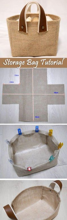 Fabric Box Tutorial Storage Fabric Burlap Box Pattern and Tutorial. Bag Step by step photo tutorial…Storage Fabric Burlap Box Pattern and Tutorial. Bag Step by step photo tutorial… Sewing Hacks, Sewing Tutorials, Sewing Crafts, Sewing Projects, Sewing Patterns, Bag Tutorials, Purse Patterns, Quilting Patterns, Sewing Ideas
