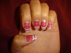 red beautiful nail art