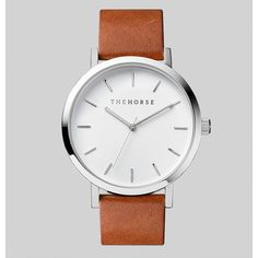 WATCH | polished steel + tan leather