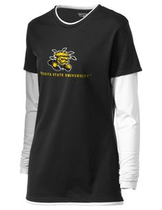 Wichita State University Shockers Long Sleeve Double Layer T-Shirt