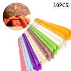 Ear Wax Removal Cleaner Ear Coning Indiana Therapy 10pcs Ear Candles Healthy Care Ear Aromatherapy Treatment Fragrance Candling