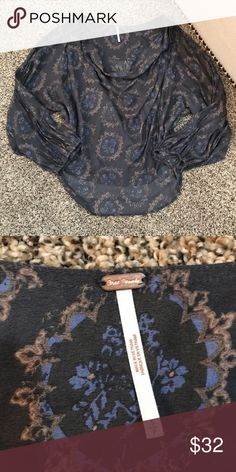Free People Boho Top Never worn. Excellent condition! Free People Tops Blouses
