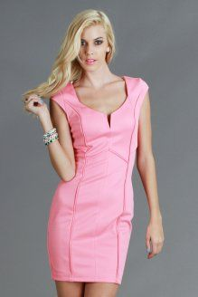 D11044 Sectioned Cap Sleeve Dress