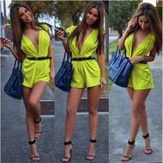 Cheap Sexy Deep V Neck Tank Sleeveless Solid Yellow Polyester One-piece Regular Jumpsuit_Jumpsuits_Womens Clothing_LovelyWholesale | Wholesale Shoes,Wholesale Clothing, Cheap Clothes,Cheap Shoes Online. - LovelyWholesale.com