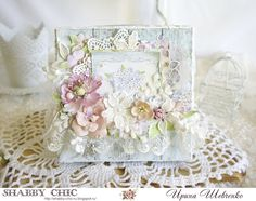 Melody of creation: shabby chic Shabby Chic Cards, Mixed Media Art, Decorative Boxes, Elegant, Blog, Journal, Home Decor, Crafts, Cards