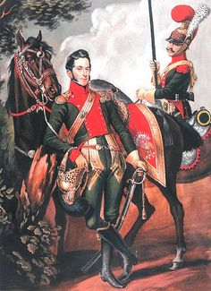 Squadron commander of the 6th Regiment Chevau-léger-lancers and private elite company of the same regiment, 1812-1815