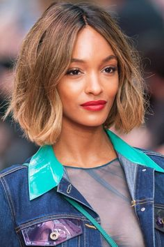 Jourdan Dunn at London Fashion Week | Hair