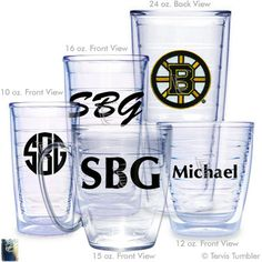 Boston Bruins Personalized Tervis Tumblers
