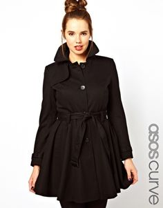 Image 1 of ASOS CURVE Fit & Flare Trench.