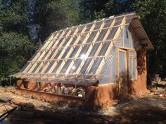 cob house with greenhouse - Google Search
