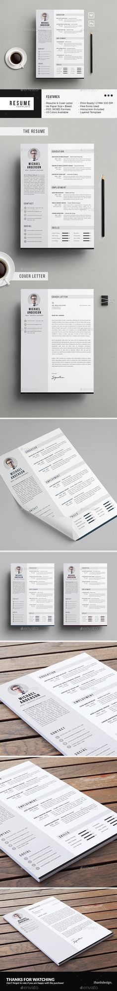 Clean Resume  Cv  Resume Cv Psd Templates And Cv Template