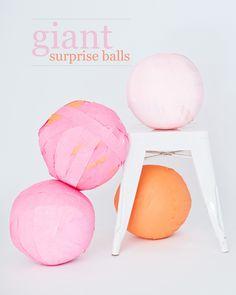 #DIY Giant surprise balls #party