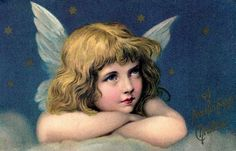 Shop Vintage Christmas, Beautiful Angel with Gold Stars Holiday Postcard created by ChristmasCafe. Etsy Christmas, Little Christmas, Christmas Angels, Christmas Cards, Christmas Eve, Blue Christmas, Victorian Angels, Victorian Christmas, Vintage Christmas