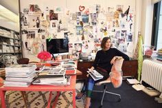 First Look at Heather Clawson's Habitually Chic: Creativity at Work book... Jenna Lyons seen here in her inspiring office space