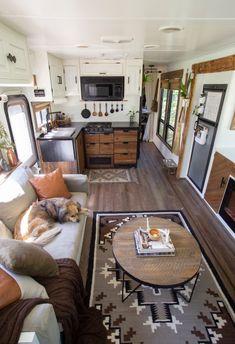 Bus Living, Tiny House Living, Small Living, Rv Homes, Tiny Homes, Tiny House Storage, Travel Trailer Remodel, Mobile Living, Camper Makeover