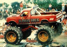 Monster Truck Party, Monster Jam, Monster Trucks, Ford 4x4, Old Tractors, Yesterday And Today, Cool Trucks, Pickup Trucks, Vintage Photos