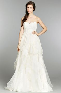 Hayley Paige :: Sweetheart A-Line Wedding Dress  with Natural Waist in Silk. Bridal Gown Style Number:32786766