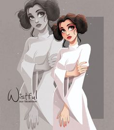 Leia (Drawing by Wistful.Art @Facebook) #StarWars