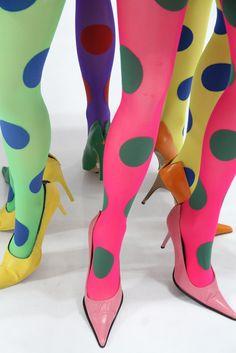 Emilio Cavallini's dotted legs in bold brights.
