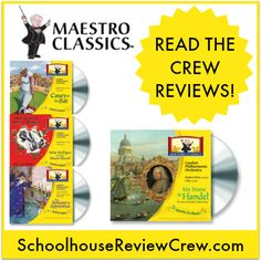 Started to help parents and children better understand and enjoy symphonic music at home Maestro Classics combines the performance of symphony music with narrations ranging from classical children's stories to historical tidbits about the authors and composers. #homeschool #music #hsreviews