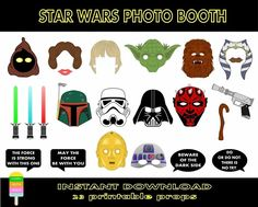 Image result for star wars photo booth props printable free