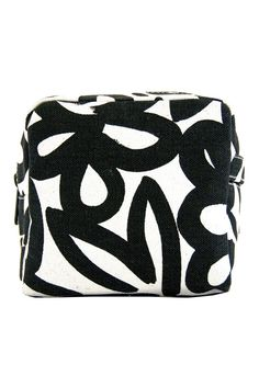 See Design Small Cosmetic Bag Woods Black/White Small Cosmetic Bags, Marimekko, Everyday Objects, Color Stories, Cool Names, Painting Patterns, Make And Sell, Crate And Barrel, Contemporary Design