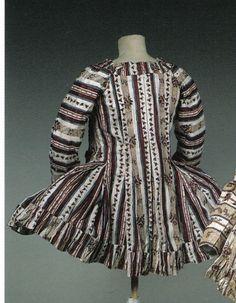 More inspirational striped pet-en-l'airs   Fuchsia's 18th century dress