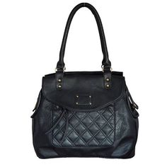 Twin Handle Shoulder Handbag Black