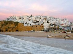 Albufeira is a city, a county (concelho) and community (freguesia) at the Algarve in southern Portugal. Albufeira has a roughly history. Spain And Portugal, Portugal Travel, Albufeira Portugal, Places To Travel, Places To Visit, Portugal Holidays, Nature Sauvage, Malaga, Tulum