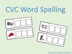 Use this adapted book to work on spelling CVC words! Included in this pack are 12 different words using different word families to work on. autism, special education, early childhood, emerging reader, reading, reading groups, guided reading, independent work, adapted book, free