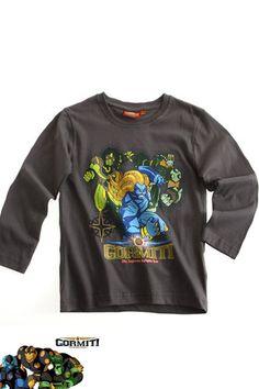 $9.20 Boy's Kids Gormiti Official Longsleeve T Shirt Sz Age 4 10 Grey | eBay