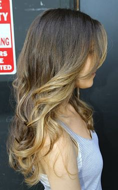 When my hair gets a little longer, this is what I want. Maybe even the ombre.   #long wavy hair
