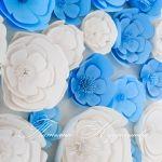 Бумажные цветы на свадьбу