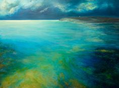 Giuliana Criscuolo - The causeway, Birsay - Mixed media on canvas - 90 cm x 120 cm