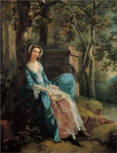 Portrait of a Woman (possibly of the Lloyd Family) - Thomas Gainsborough