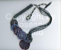 Roseann Straub's Purple Blue Pinwheels (Beads)