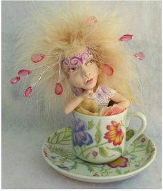 Floral Teacup Tea Leaf OOAK Fairy  http://cgi.ebay.com/ws/eBayISAPI.dll?ViewItem=151027118936