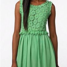 Love the color Green Dress, I Dress, Cute Outfits, Summer Dresses, My Style, Clothes, Colour, Fashion, Vestidos