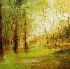 Beautiful new work from Claire Wiltsher -  'Drenched in light' mixed media £950 www.lyndhurstgallery.co.uk