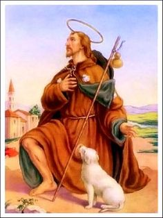 O great St. Roch, deliver us, we beseech thee, from the scourges of God; through thy intercession, preserve our bodies from contagious diseases, and our souls from the contagion of sin. Obtain for us good health; but, above all, purity of heart. Assist us to make good use of health, to bear sufferings with patience; and, after thy example, to live in the practice of penance and charity, that we may one day enjoy the happiness which thou has merited by thy virtues. St. Roch, pray for us.