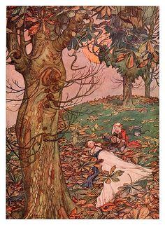 006-Ilustracion del cuento El musico-Bill the minder 1912-W. Heath Robinson