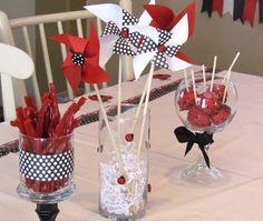 Treats at a Ladybug Party #ladybug #partytreats