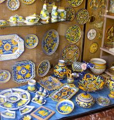 I absolutely crave Italian pottery. I cannot get enough of the stuff. Here is a wonderful selection. I can already tell ya, I have several picked out for my plate wall lol.
