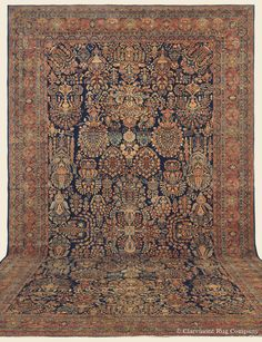 "MAHAJIRAN SAROUK, 11' 7"" x 20' 9"" — Circa 1910, West Central Persian Antique Rug - Claremont Rug Company"