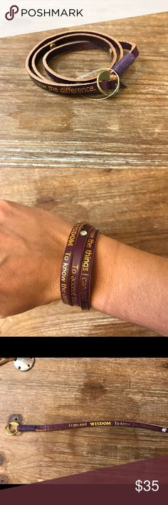Purple wrap bracelet In brand new condition and never been worn Jewelry Bracelets
