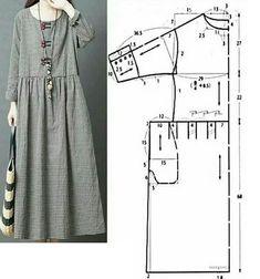 Платья и сарафаны с выкройками Dress Sewing Patterns, Sewing Patterns Free, Clothing Patterns, Linen Dress Pattern, Patterns Of Dresses, Pattern Sewing, Pants Pattern, Top Pattern, Fashion Sewing
