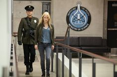 "FRINGE: Peter,(Josh Jackson, L) disguised as a Loyalist, and Etta (Georgina Haig, R) break into the Harvard Medical building in the ""In Absentia"" episode of FRINGE airing Friday, Oct. 5 (9:00-10:00 PM ET/PT) on FOX. ©2012 Fox Broadcasting Co. CR: Liane Hentscher/FOX"