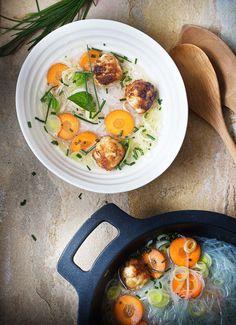 Sopa minestrone con albóndigas de pollo